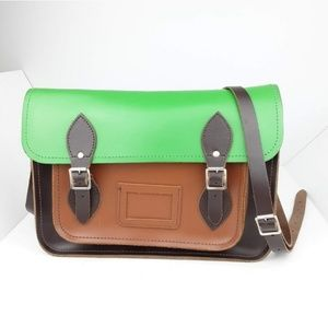The Cambridge Satchel Company Satchel Brown Green